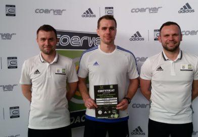 Trener Tomasz Kotwica z licencją Coerver Coach Assistant