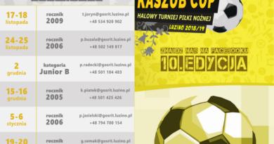 Zapraszamy na X cykl Ogólnopolskich Turniejów Kaszub Cup do Luzina