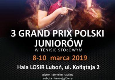 Tenisistki stołowe GOSRiT Luzino powalczą w Lubaniu w III Grand Prix Polski Juniorów i Juniorek w Tenisie Stołowym
