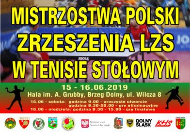 Już w ten weekend Mistrzostwa Polski Zrzeszenia LZS w tenisie stołowym