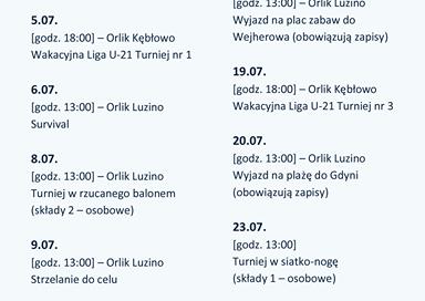Sportowe Wakacje z GOSRiT Luzino