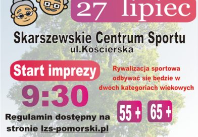 Serdecznie zapraszamy na Wojewódzką Senioriade LZS o Puchar Marszałka Województwa Pomorskiego. Zapraszamy do udziału mieszkanców gminy Luzino