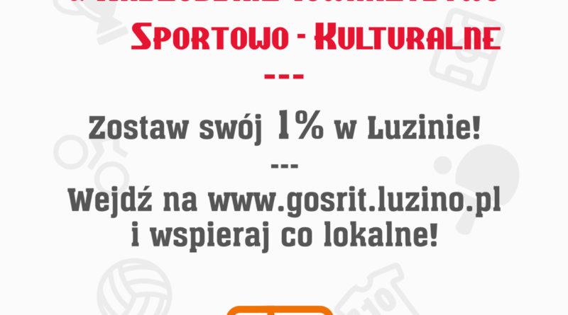 Zostaw swój 1% w Luzinie, wspieraj co lokalne