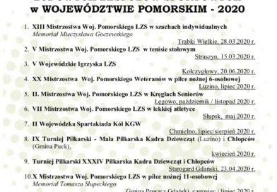 Współzawodnictwo Sportowe Samorządów LZS w Województwie Pomorskim 2020 o Puchar Marszałka Województwa Pomorskiego