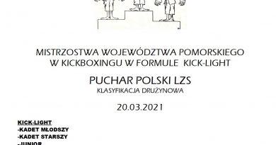 Mistrzostwa Województwa Pomorskiego w kickboxingu w formule kick-light