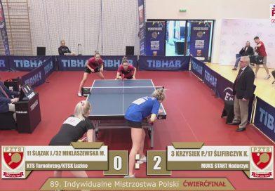 89. Indywidualne Mistrzostwa Polski Seniorek i Seniorów w Tenisie Stołowym